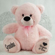 Love Grandma Personalised Teddy Bear 40cm Plush Pink