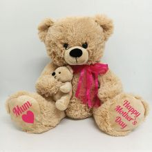 Mothers Day Teddy Bear Plush Plush - Pink