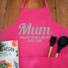 Mum Personalised  Apron with Pocket - Pink