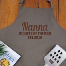 Nan Personalised  Apron with Pocket - Latte