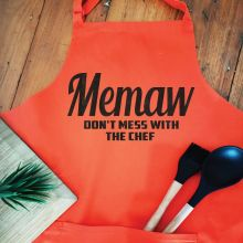 Nana Personalised  Apron with Pocket - Orange