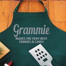 Grandma Personalised  Apron with Pocket - Pea Green
