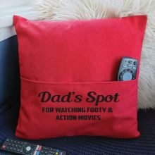 Dad Personalised Pocket Pillow Cover Red