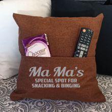 Grandma Personalised Tan Pocket Reading Pillow Cover