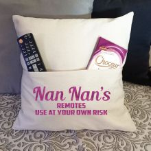 Nan Personalised Pocket Pillow Ivory Cover