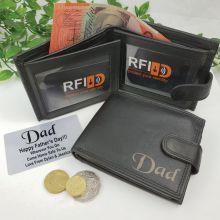 Dad Personalised Leather Wallet RFID