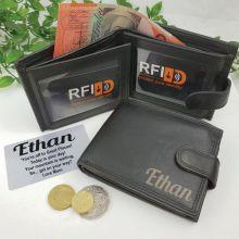 Graduation Personalised Leather Wallet RFID