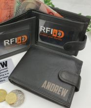 Personalised Leather Wallet RFID