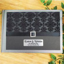 Personalised Wedding Guest Book Keepsake Album- Baroque Black