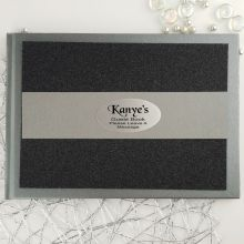 Personalised Glitter Guest Book- Black