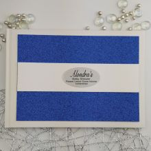 Personalised Baby Shower Guest Book- Blue Glitter