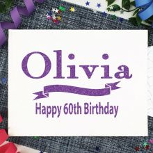 Personalised 60th Birthday Guest Book Album - White A4