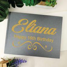 16th Birthday Guest Book Album - A4 Grey