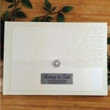 Personalised Wedding Guest Book- Cream Pearl