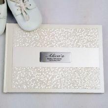 Baby Shower Guest Book Keepsake Album - Cream Pebble