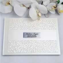 Graduation Guest Book Keepsake Album- Cream Pebble