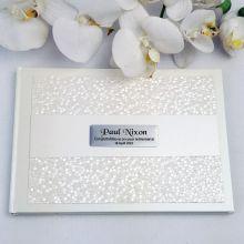 Retirement Guest Book Keepsake Album- Cream Pebble