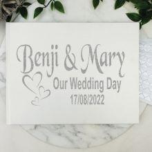 Wedding Guest Book Keepsake Album - White A5