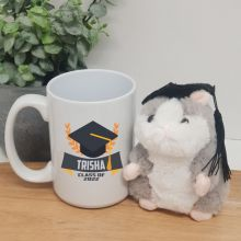 Personalised Graduation Coffee Mug and Hamster Set