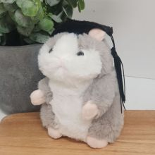 Graduation Hamster Plush with Mortarboard