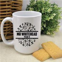 Personalised Math Teacher Coffee Mug