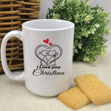 Personalised I Love You Coffee Mug - Cat
