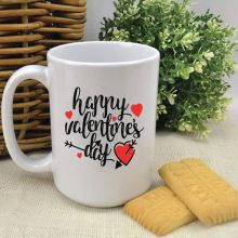Happy Valentines Day Coffee Mug With Message