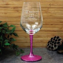 Bride Engraved Personalised Wine Glass 450ml