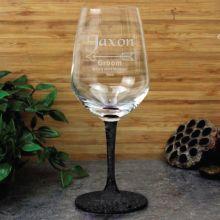 Groom Engraved  Personalised Wine Glass