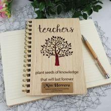 Teachers Personalised Journal & Pen - Knowledge