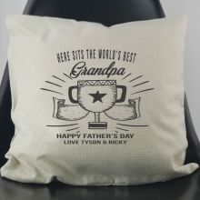 World's Best Grandpa Personalised Cushion Cover