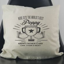 World's Best Pop Personalised Cushion Cover