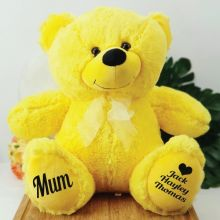 Personalised Mum Teddy Bear 40cm Plush  Yellow