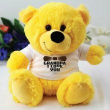 Personalised Grandpa Yellow Teddy Bear
