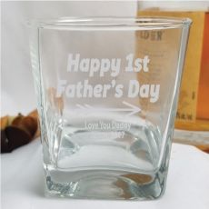 First Fathers Day Engraved Personalised Scotch Spirit Glass