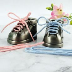 First Tooth & Curl Pewter Baby Booties Gift Set
