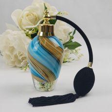 Blue Swirl Glass Perfume Bottle