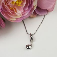 Music Note Memorial Urn Cremation Ash Necklace