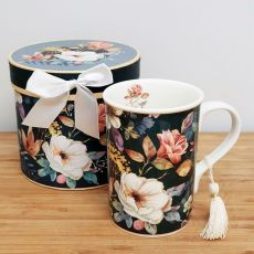 Ceramic Coffee / Tea Cup in Gift Box - Bouquet
