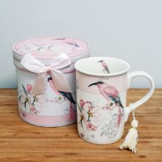 Ceramic Coffee / Tea Cup in Gift Box - Magnolia Bird