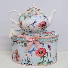 Teapot in Gift Box - Poppy