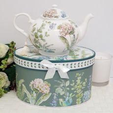 Teapot in Gift Box - Hydrangea