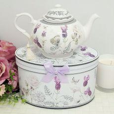 Teapot in Gift Box - Lavender