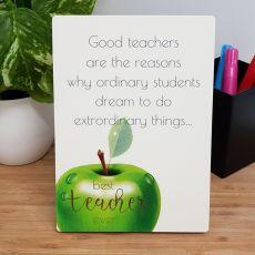 Best Teacher Ever Desk Plaque - Good Teacher