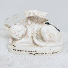 Cat Memorial Angel Solar Halo Garden Statue
