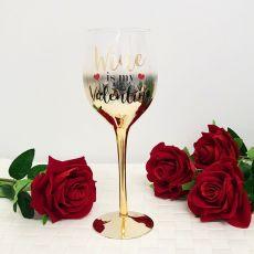 Wine Is My Valentine Boxed Wine Glass