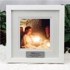 40th Birthday Instagram Photo Frame 5x5 White/Black Wood
