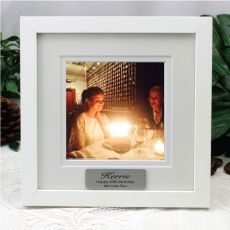 50th Birthday Instagram Photo Frame 5x5 White/Black Wood