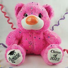 Graduation Personalised Teddy Bear 40cm Hollywood Pink