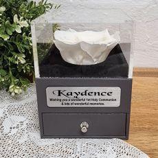 Everlasting White Rose Holy Communion Jewellery Gift Box